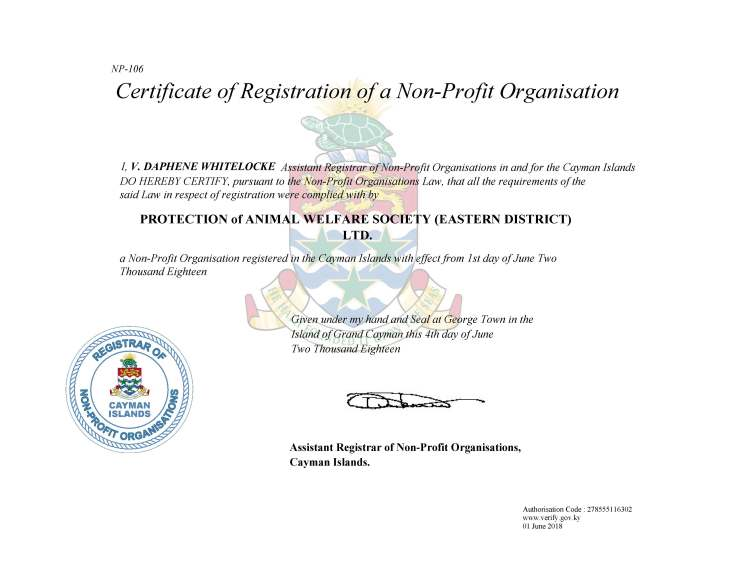 NPO Certificate of Registration(1)
